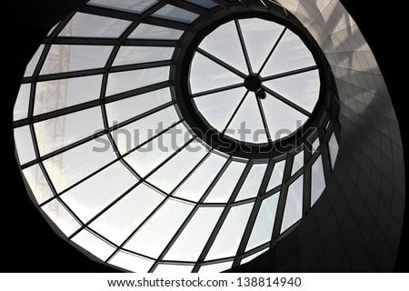 Ceiling window for Sunlight - stock photo
