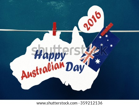 Celebrate australia day holiday on january stock photo royalty free celebrate australia day holiday on january 26 2016 with a happy australia day message greeting written m4hsunfo