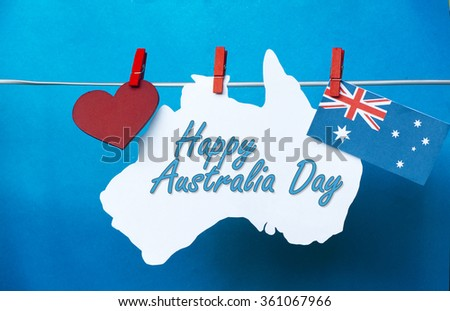 Celebrate australia day holiday on january stock photo 361067966 celebrate australia day holiday on january 26 2016 with a happy australia day message greeting written m4hsunfo