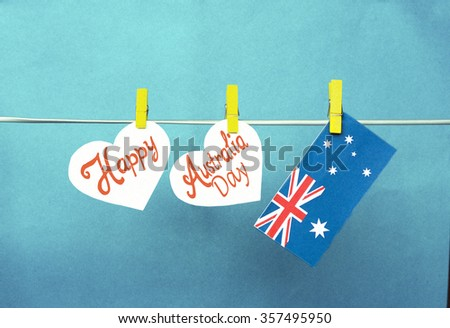 Celebrate australia day holiday on january stock photo 357495950 celebrate australia day holiday on january 26 with a happy australia day message greeting written across m4hsunfo