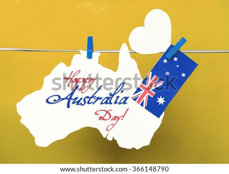 Celebrate australia day holiday on january stock photo royalty free celebrate australia day holiday on january 26 with a happy australia day message greeting written across m4hsunfo