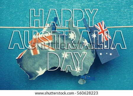 Celebrate australia day holiday on january stock photo safe to use celebrate australia day holiday on january 26 with a happy australia day message greeting written m4hsunfo