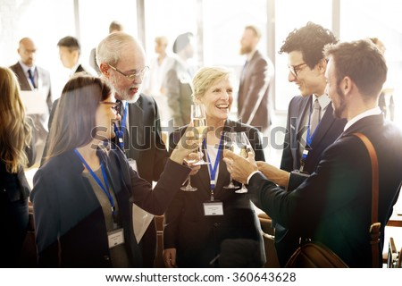 Celebrate Cheers Refreshment Meeting Alcohol Concept - stock photo