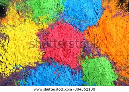 Celebrate festival Holi. Indian Holi festival of colours - stock photo