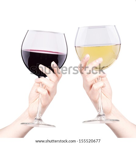 celebrate the holiday background - hand with wine making toast