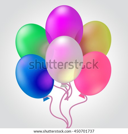 Celebrate With Balloons Meaning Cheerful Party And Celebrating