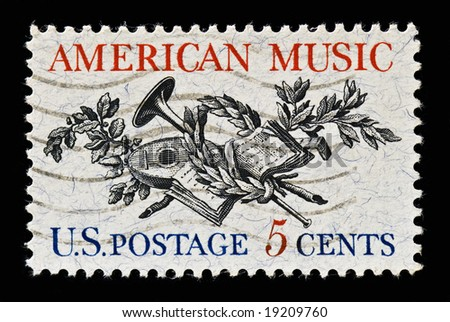 Celebrating American music. Issued 1964 - stock photo