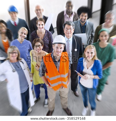 Celebrating Diverse People Various Occupations Concept - stock photo