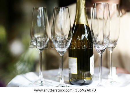 Celebrating weddings, New Year, Christmas and other special occasions with champagne and glasses