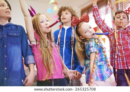 Celebrating with my the best friends - stock photo