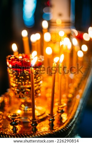 Celebration of easter in Belarussian Orthodox Church. Easter Is The Most Popular Religious Holiday In Belarus. - stock photo