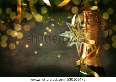 Celebration theme with champagne still life