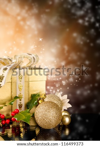 Celebration theme with christmas gift