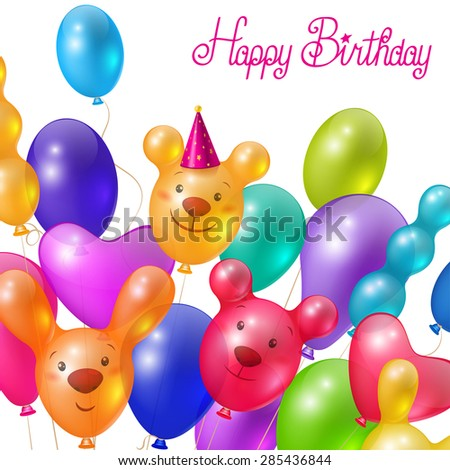Celebratory background, greeting card template, happy birthday  - stock photo