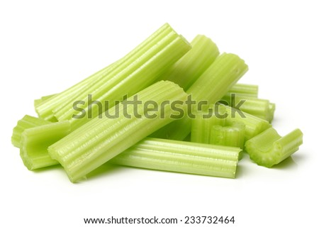 celery on a white background  - stock photo