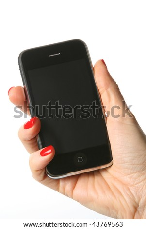Cell Phone isoleted on white background