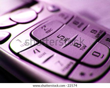 Cell Phone Key Pad - stock photo