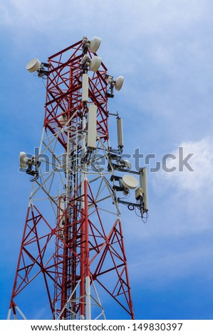 Cell phone  tower and radio antenna
