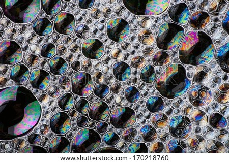 Cell structure abstract background with vibrant colors - stock photo