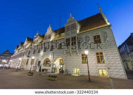 Celle, Germany - September 25, 2015: Old town hall in Celle town in north Germany