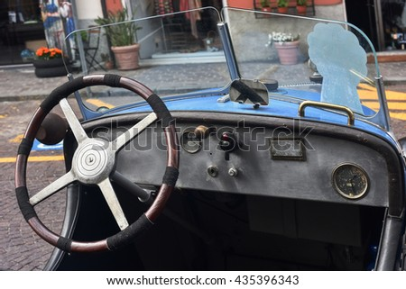 Celle Ligure (Savona), Italy, June 2, 2016 Exposure in the historic center of Celle Ligure of  about thirty vintage cars, '10s and' 40s of the twentieth century. Pictured, Benjamin B SPORT 750 1922