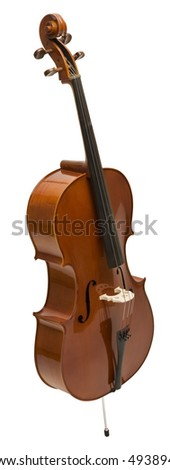 Cello - isolated on white