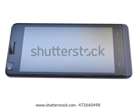 cellphone black. isolated on white background.