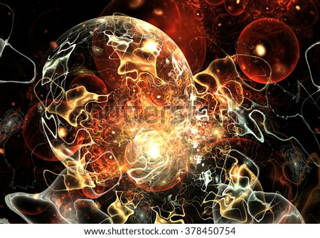 Cells, bacteria or virus - stock photo