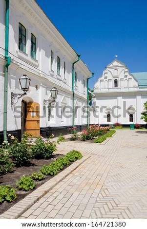Cells cathedral elders. Kiev Pechersk Lavra. Orthodox Christian monastery. Kiev. Ukraine.  - stock photo