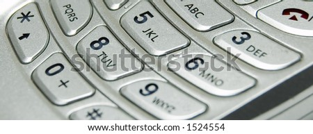 Cellular Flip Phone Keypad Abstract - stock photo