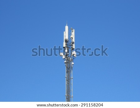 cellular phone antenna - stock photo