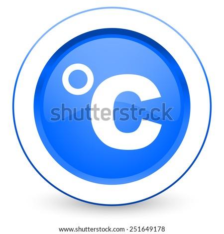 celsius icon temperature unit sign  - stock photo