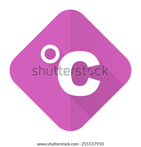 celsius pink flat icon temperature unit sign  - stock photo