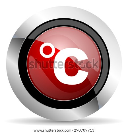 celsius red glossy web icon original modern design for web and mobile app on white background