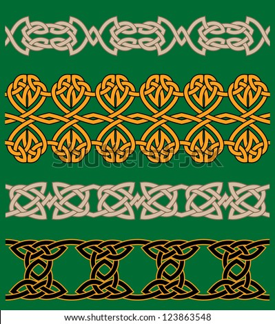 Celtic embellishments and ornaments for ornate and decoration. Vector version also available in gallery - stock photo