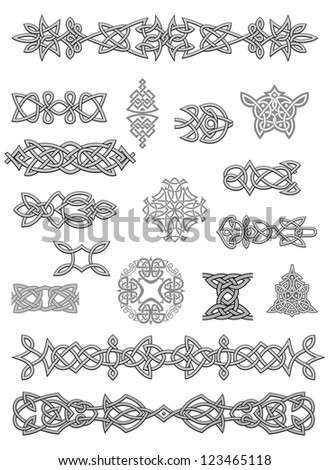Celtic ornaments and embellishments for design and decorate - stock photo