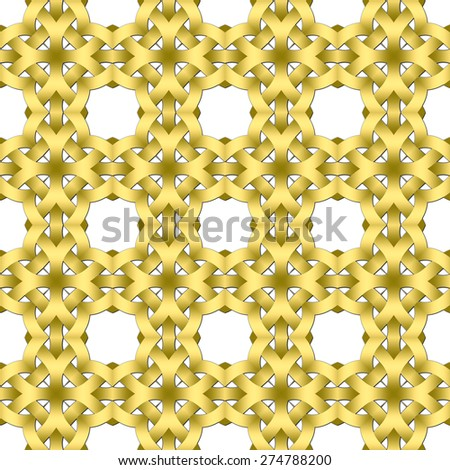 Celtic waves decoration generated seamless texture - stock photo