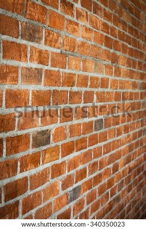 cement and brick wall texture background, material of industry building construction