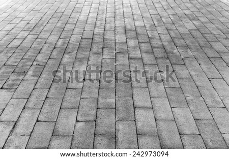 Cement brick floor background