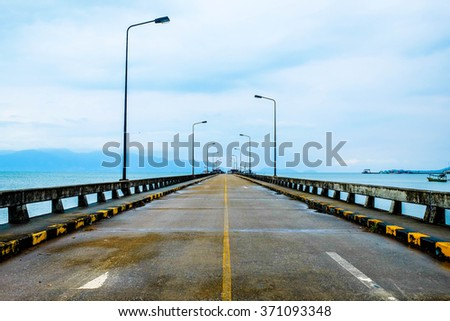 Cement bridge  into the sea