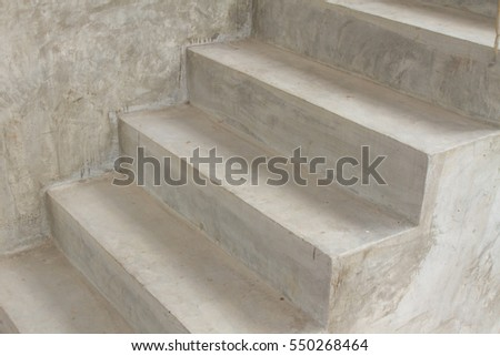 Cement concrete stair