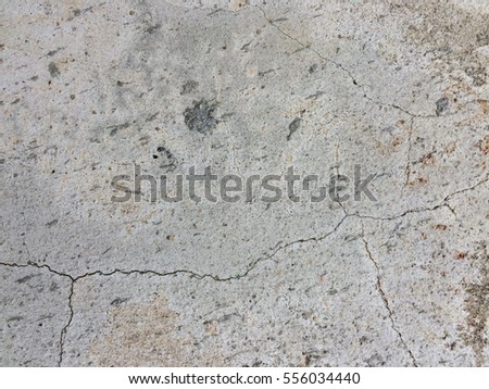 Cement crack wall texture and background