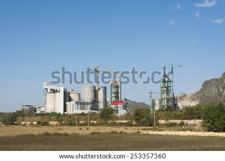 Cement factory, Cambodia. - stock photo