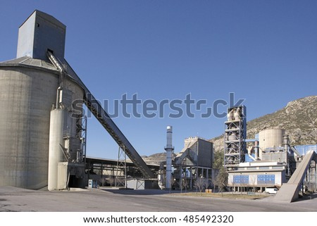 Cement factory detail view.