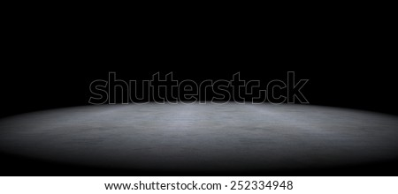 Cement floor background and spot light.Between darkness - stock photo