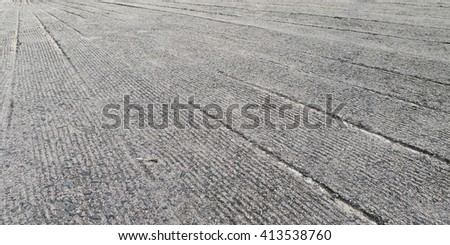 Cement Floor with lining, for anti-slip purposes - stock photo