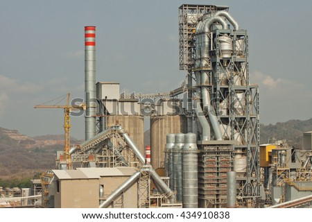 Cement industry have preheater cooling tower and other plant