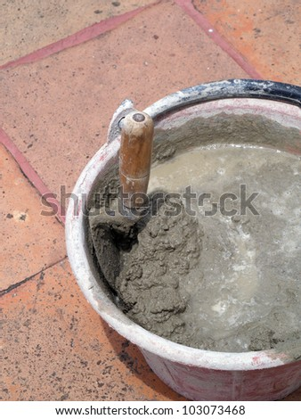 Cement mix - stock photo