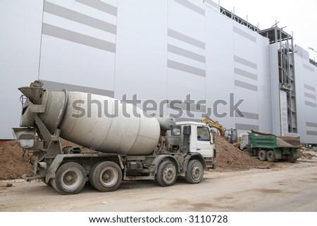 cement-mixer - stock photo