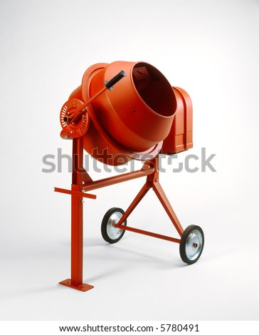 Cement Mixer - stock photo